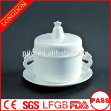 Высококачественный ресторан отеля Китайская традиционная фарфоровая чашка для супа из фарфора