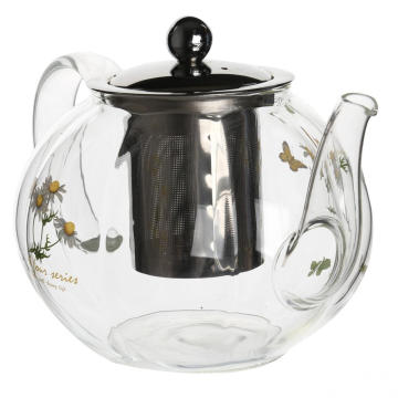 New Product for Glass Teapot Glass Filtering Tea Maker Teapot Lead Free supply to New Zealand Factory