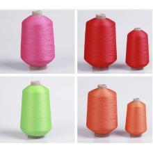 150d 100% polyester fil texturé pour chaussettes de football