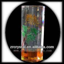 Bonito vaso de cristal L013
