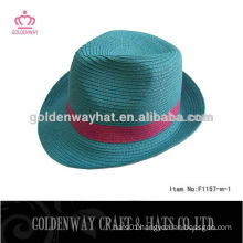 Paper men blue fedora hat