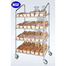 Fabricante de estanterías del estante de exhibición del pan de 4 niveles (CJ-A1205)