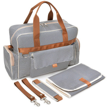 Canvas Messenger Solid Color Baby Love Diaper Bag