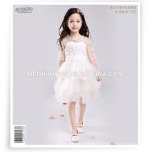 vestido de fumar elegante de niña vestido de bebé para niños