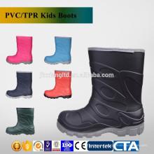 CE colorful PVC kids rain boots & rubber rain boots for children