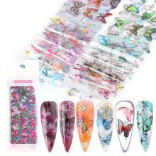 Popular Flower Butterfly Brand Logo Nail Art Transparent Transfer Lace Paper Nail Star Sticker