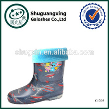 new sex wellies rain boots/ winter warm boys rain boots/\C-705