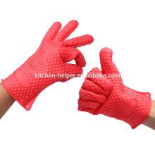 Пользовательские моды продовольственной класса высокого качества жаропрочных силиконовые перчатки BBQ / силиконовые гриль печь BBQ перчатки / Mitt печи