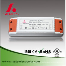 240v ac cubierta de plástico 12 voltios 24 v dc aislado fuente de alimentación led 30 w