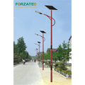 Steel solar energy lighting pole