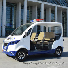 High Quality Mini 4 Passenger Electric Closed Style Street Laminated Glass Police Patrol Car with Ce