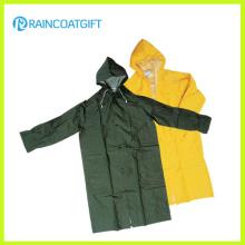 Herren Regenmantel aus PVC-Polyester Langarm