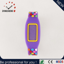 Fashion Flat Silicone Electronic Sports Digital Wrist Watch