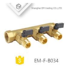 EM-F-B034 Gewinde Messing Ventilblock