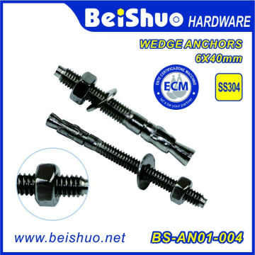 Stainless Steel 304 Wedge Anchor with Washer for Transmission