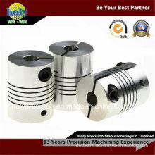Kundenspezifisches CNC-Bearbeitungsbohrloch Stailess-Stahl CNC-drehendes Teil