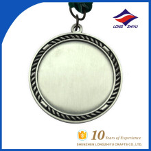 Tradición personalizada y hacer por la fábrica de China medalla en blanco barato