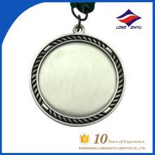 Tradição personalizada e fazer pela medalha em branco barata da fábrica da China