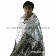 Silver emergency blanket, CE and FDA approved