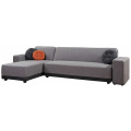 Sleeper Chaise Sectional Fabric Corner Sofa Bed