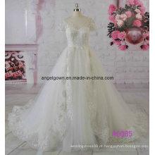 2016 puffy a linha de vestido de noiva vestido de noiva fábrica de guangzhou