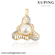 32783 Free Sample white pearl with charm multicolor gold jewelry pearl pendant