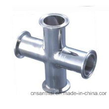 High Quality 3A SMS DIN Standard Clamped Sanitary Cross