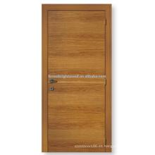 Popular en forma de panal de papel núcleo cuarto lavado interior puerta diseño