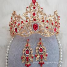 Hochwertige Braut-Jäten-Tiaras Wirkliche Diamant-Krone und Tiaras