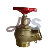 brass landing hose fire valve with 30 degree outlet L102