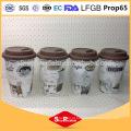 Produtos de cerâmica ecológica fabricante de cerâmica de 400ml, caneca de silicone
