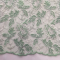 Two Tone Double Borders Flower Embroidery Fabric