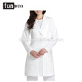 Women hosopital doctor dress white medical uniform long scrubs dress