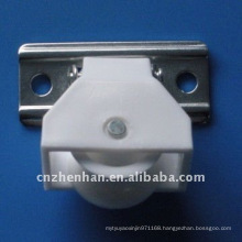 White color PE curtain cord pulley to bamboo blinds,woven wood blinds components,roman shade accessories,curtain parts