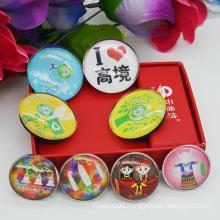 Beautiful Customized Dome Crystal Fridge Magnet/Glass Fridge Magnets