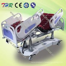 Lit d'hôpital électrique multifonctionnel professionnel ICU (THR-IC-15)