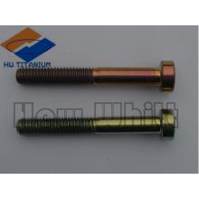 parafuso de titânio Gr5 de alta resistência DIN912
