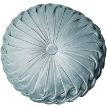 Amazon selling new style velvet round shape decorative cushion pillow