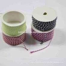 2018 caliente que vende la cuerda de la manija del bolso del poliéster de 3 filamentos y arcos del regalo