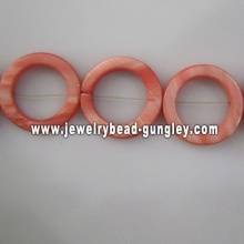 rosquinha de laranja escuro forma água doce shell beads