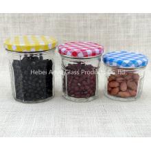 Petite taille 50ml Clear Glass Mason Jar / Jelly Jar / Jam Jar avec couvercle à vis