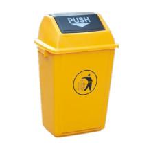 10/20/40/60 litros al aire libre empujar basura de plástico bin (yw0013)