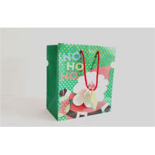 Gloss 180gsm Art Paper Chrismas Holiday Paper Bags With Flo
