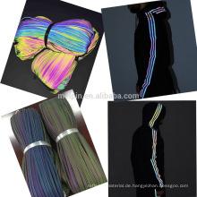 Stretch Rainbow Reflektierende Paspeln mit verschiedenen Farben