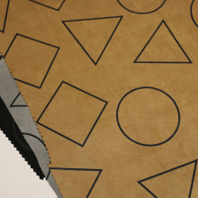 Designs de géométrie Tissus de suède pour manteau / veste
