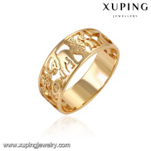 14121- Xuping Costume Jewellery Rings For Girls Simple Gold Ring Designs