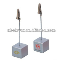 cube shape name card clip