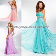HE2120 Bonitinho amor neckline arrumado chiffon sparkly vestidos de vestimenta