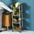Shelf Rack with 4 Storage Baskets and Wheels