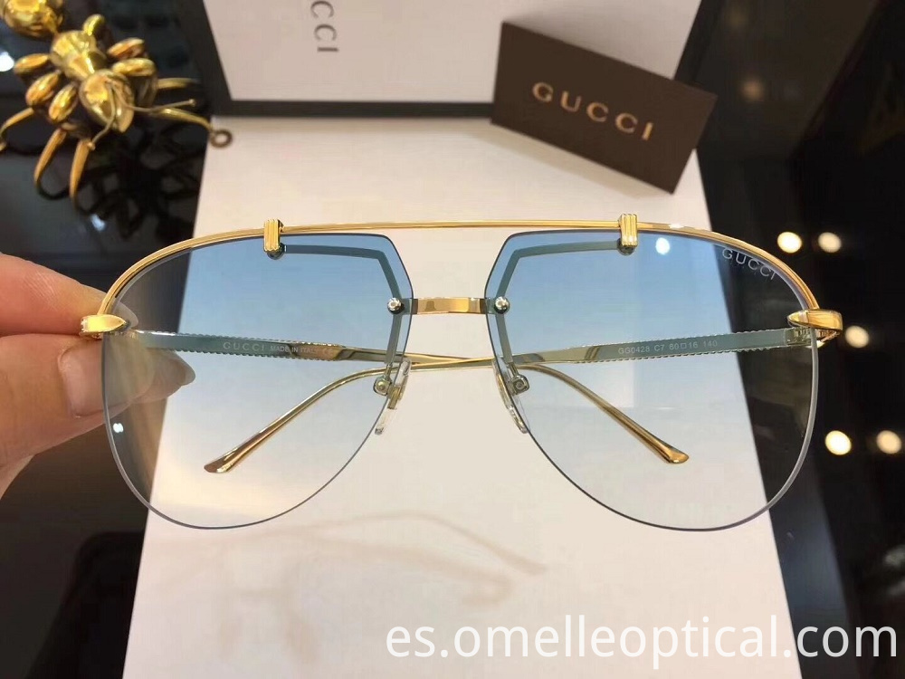 Semi Rimless Sunglasses Face Shape